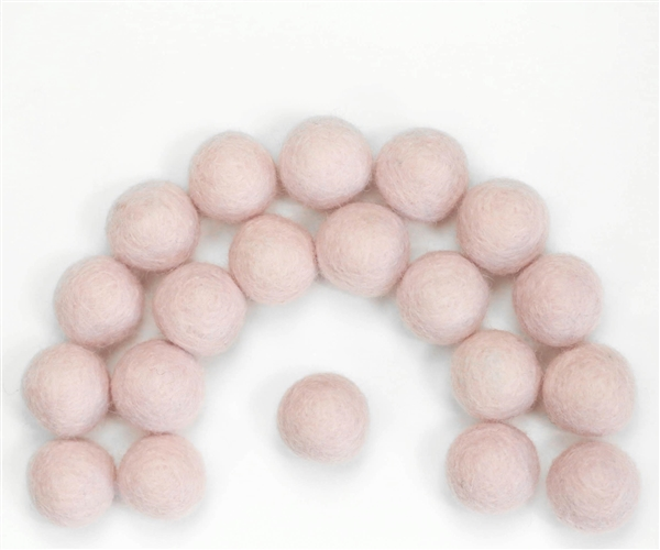 Felt Balls -  Heavenly Pink - 2.5 cm - 25 balls - $7.50