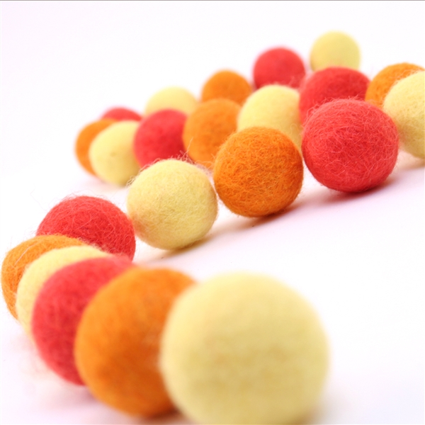 Felt Balls -  Sunburst Set