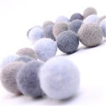 Felt Balls -  Shades of Gray Set