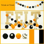 Felt Balls MIX -  Trick or Treat