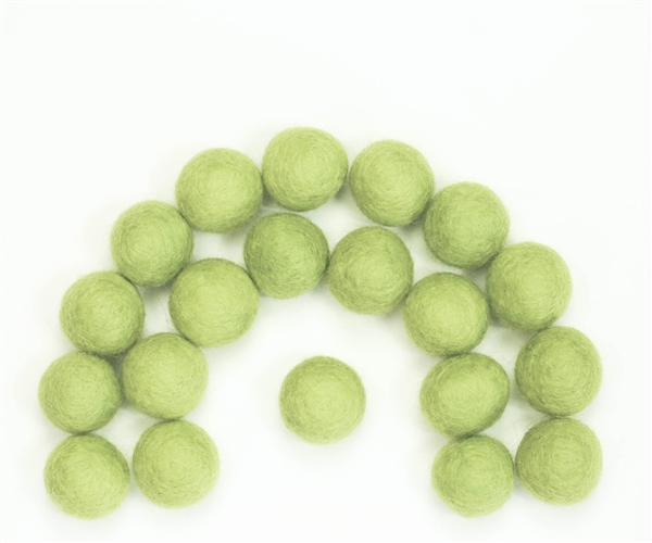 Felt Balls - Yellow Green