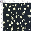 Corduroy - Black with Tan Flowers