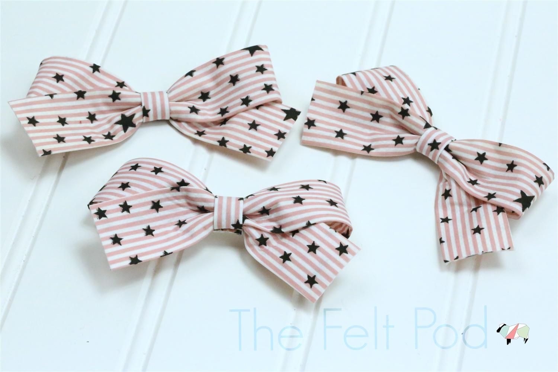 Pink Stripes Glitter BowJade Stripes Glitter Bow