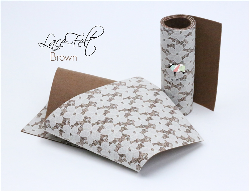 Brown Lace Felt