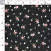 Corduroy - Black with Pink Floral