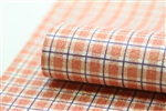 Glitter Plaid - Orange