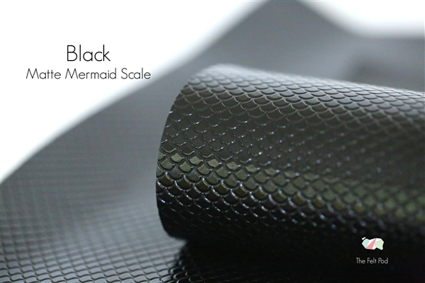 Matte Mermaid Scale - Black