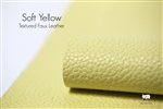 SOFT YELLOW Matte Textured