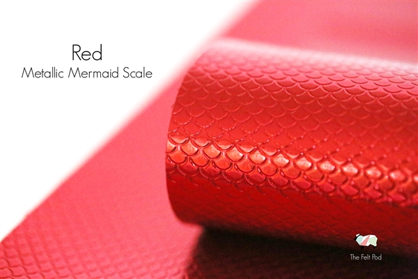 Metallic Mermaid Scale - Red