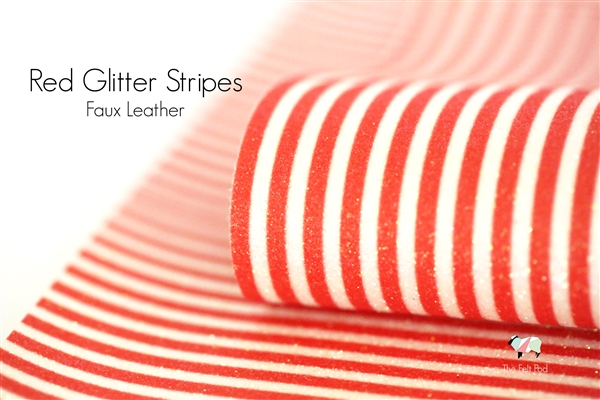 Red Glitter Stripe