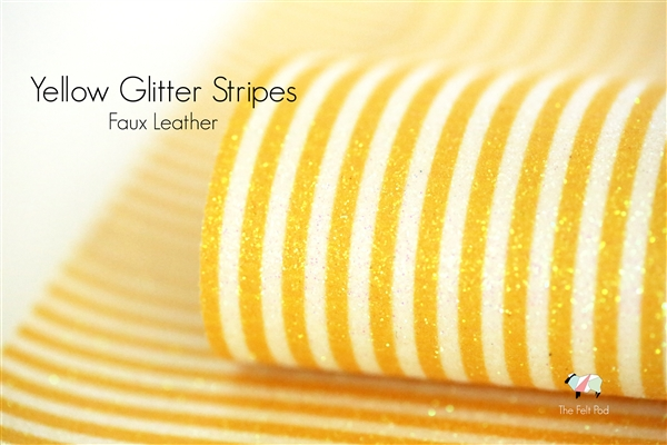 Yellow Glitter Stripe