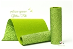 Yellow Green Glitter Felt
