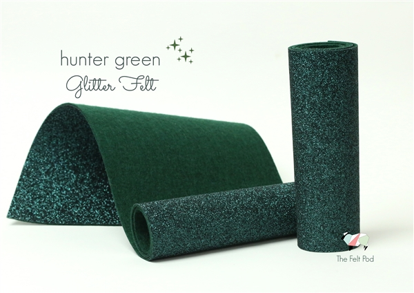 Hunter Green Glitter Felt