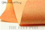 Iridescent Orange Glitter Felt