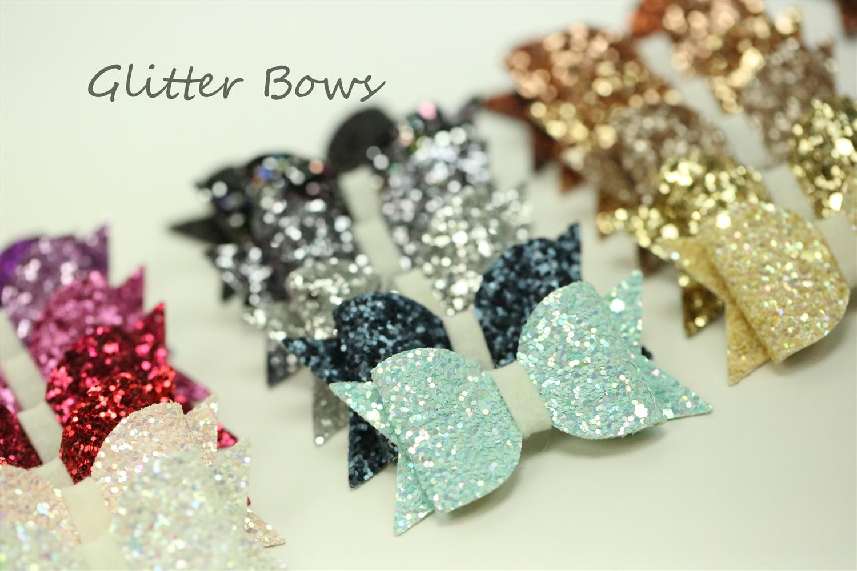 Chunky Glitter Bows | Glitter Felt Hair and Craft Bows