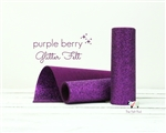 Purple Berry Glitter Felt