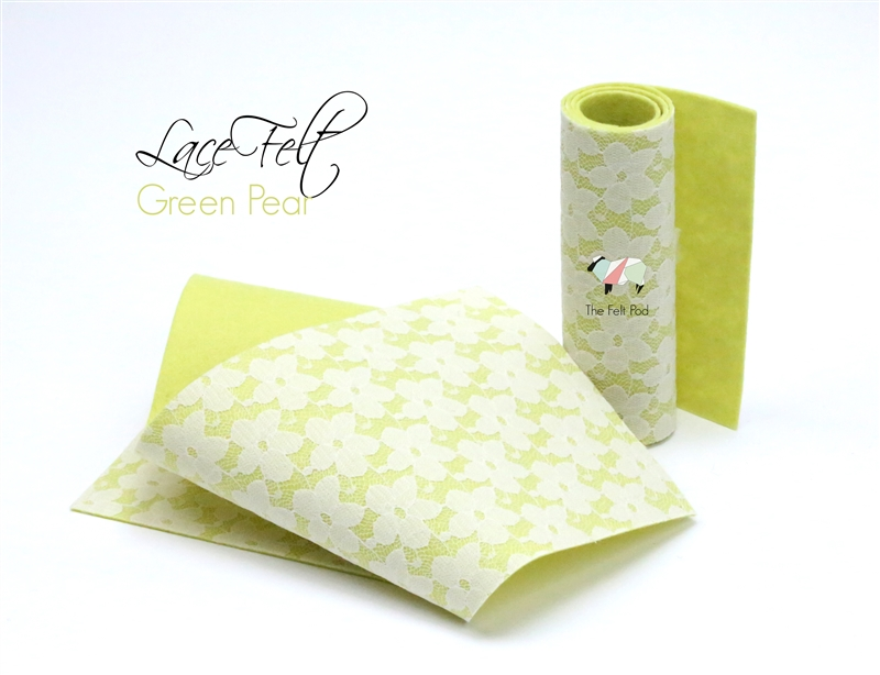 Green Pear Lace Felt