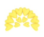 Felt Hearts - Canary Yellow