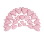 10 count Felt Hearts Wool Felt Hearts Color CANARY YELLOW 3 to 4 cm