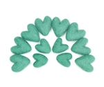 Felt Hearts - Sea Green