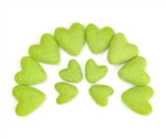 Yellow Green Felt Hearts