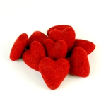 Felt Hearts 6cm - Red