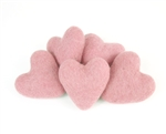 Felt Hearts 9cm - Cotton Candy
