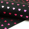Hot Pink Hearts on Black