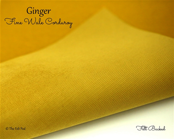 Fine Wale Corduroy - Ginger