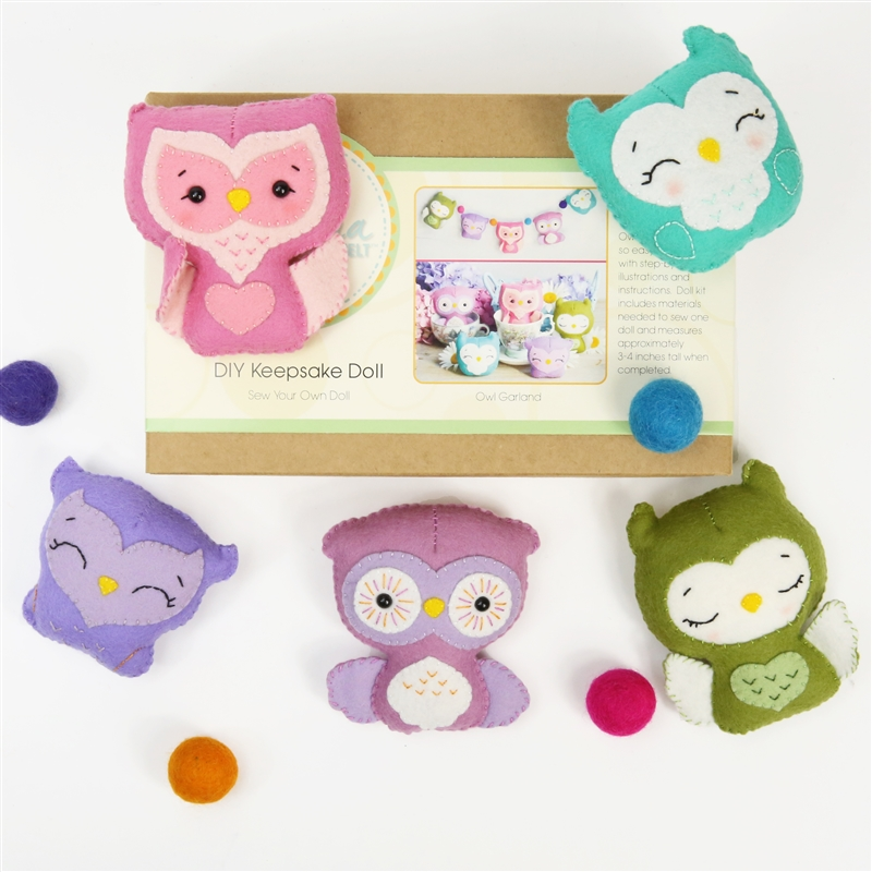 DIY Doll Kit - Owl Garland