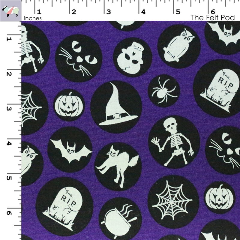 Ready Set Glow in The Dark Motifs - Purple