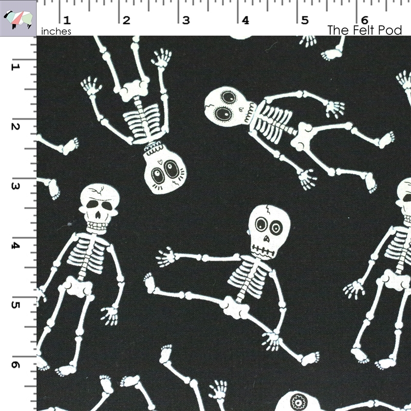 Ready Set Glow in The Dark Skeleton - Black