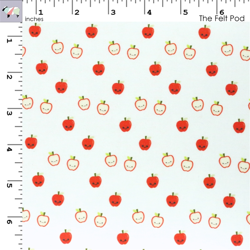 Scattered Kawaii Apples