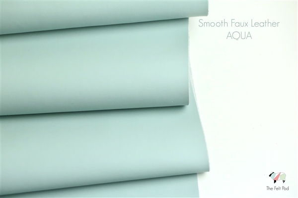 Smooth Leather - Aqua