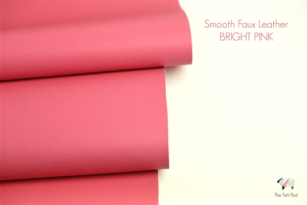 Smooth Leather - Bright Pink