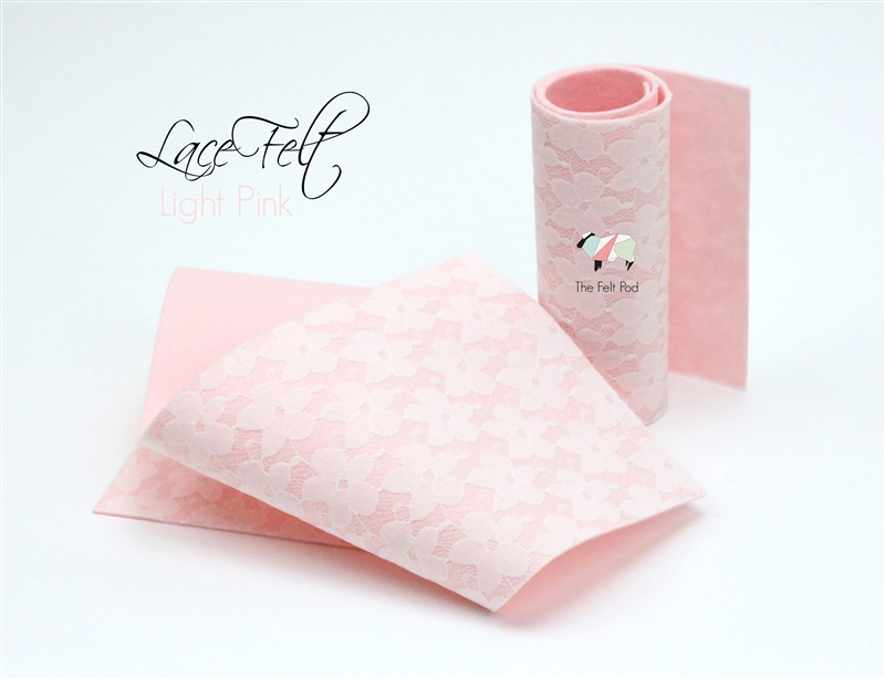 Light Pink Lace Felt