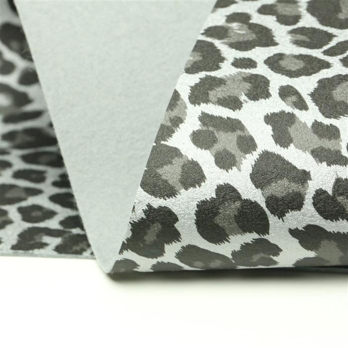Metallic Silver Dots on White Merino Wool Felt