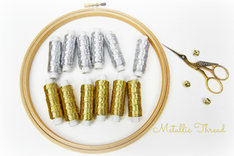 Metallic Thread Metallic Lame Thread Gold Thread Silver Thread