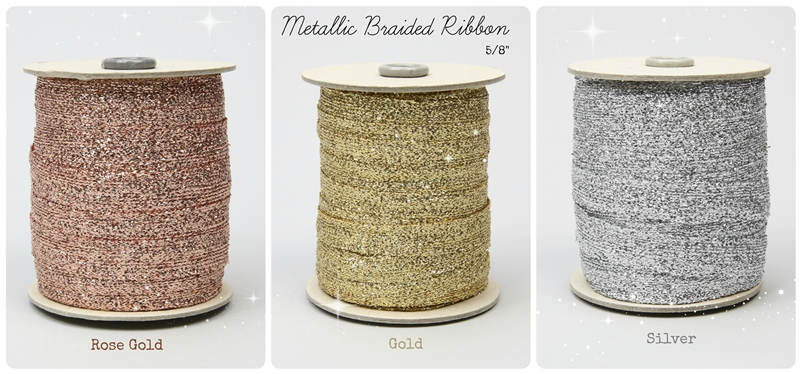 Metallic Braided Ribbon 5/8""
