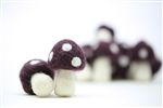 Felt Mushrooms - Plum