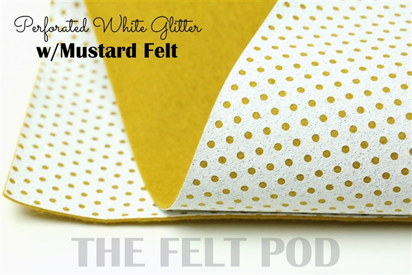 Perforated White - Mustard