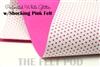 Perforated White - Shocking Pink