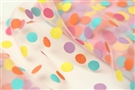 Pink Polka Dot Confetti Tulle
