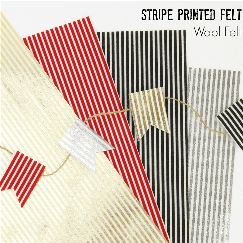 Printed Stripe Felt