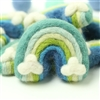 Large Felt Rainbow - Blue