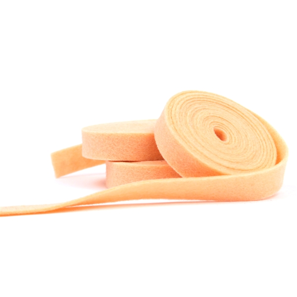Apricot Wool Felt Ribbon