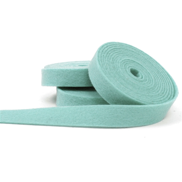 Aqua Mist Wool Felt Ribbon