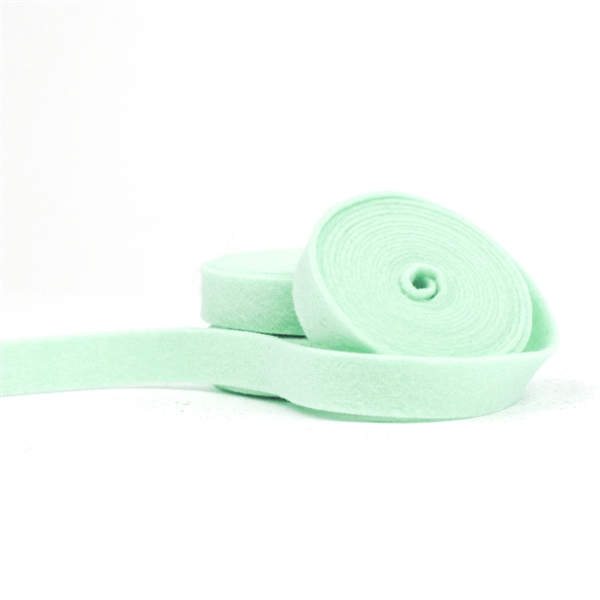 Arctic Mint Wool Felt Ribbon