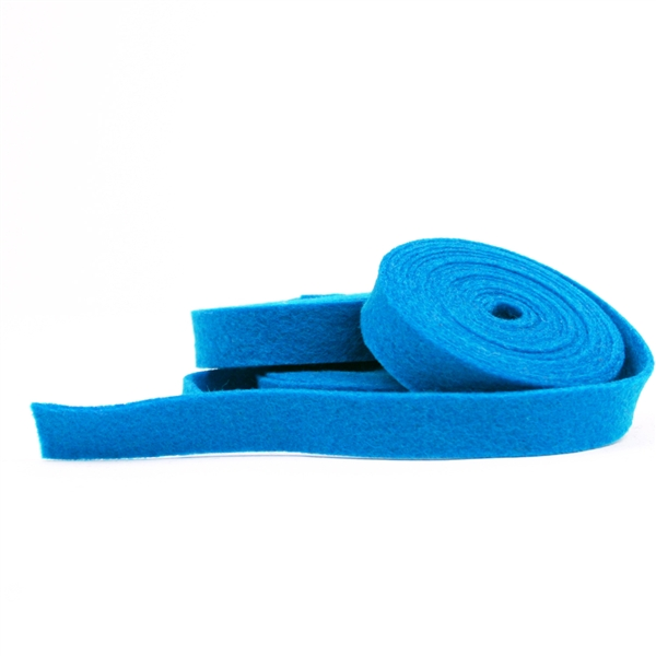 Azure Wool Felt Ribbon