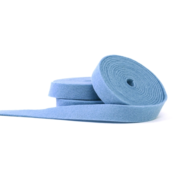 Baby Blue Wool Felt Ribbon
